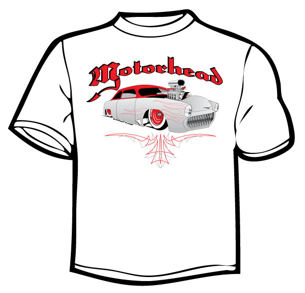 Motor head rat rod shirt